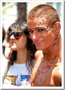 Gay man with leopard spots