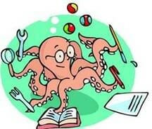Octopus multitasking