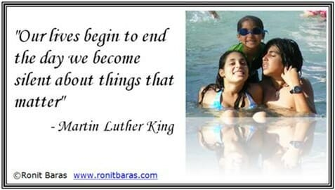 Our lives begin to end the day we become slient about things that matter - Martin Luther King